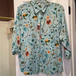 3x Coldwater Creek no iron cotton button shirt
